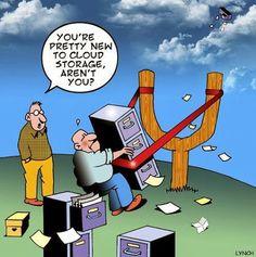 Para los que son nuevos en el #cloudcomputing, aveces la nube no es lo que parece #techhumor #cloudstorage