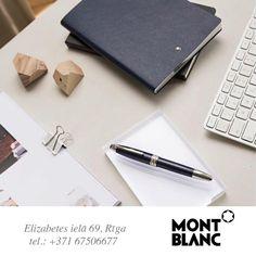 Аксессуары Montblanc обеспечат успешное начало рабочей недели!  Montblanc aksesuāri palīdzēs Jums lieliski uzsākt nedēļu!