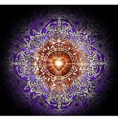 Your heart center, Anahata Chakra, is where the universe is realized in your human experience. Light up the fire of devotion in your heart for the Divine and you will awaken. ~Goddess Oceana  (art by Daniel B. Holeman)