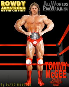 TOMMY McGEE, the Canadian #Heavyweight #Champ. He's one of the strongest #ProWrestlers in the Federation, & due to face ERIC OULETTE, a tough & equally-strong brawler, & #1 contender for his belt. From the www.RowdyArmstrong.com series of #Gay #Erotic #ProWrestling Novles, & www.AllWorldsProWrestling.com game.  ALL WORLDS PRO WRESTLING #GayWrestling #EroticWrestling #Powerlifter #Bodybuilder #Muscle #GayProWrestler Wrestling Games, Wrestling News, Brown Hair, Black Hair, Confused Feelings, Scott Evans, Jersey Boys, Teen Boys, Bodybuilder