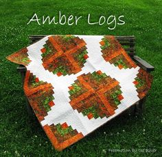 Amber Logs via Craftsy Fall Quilts, Scrappy Quilts, Quilt Kits, Quilt Blocks, Log Cabin Quilts, Log Cabins, Pineapple Quilt, Autumn Crafts, Quilted Table Runners