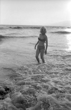 Marilyn Monroe at Santa Monica Beach, California, photographed by George Barris, June-July 1962.