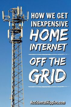 How We Get Inexpensive Internet Off the Grid Getting internet service for your off-grid or rural home doesn't have to be super expensive or complicated. Check out some of your common options and look at how our family gets internet off the grid. Renewable Energy, Solar Energy, Solar Power, Wind Power, Off Grid Survival, Survival Prepping, Emergency Preparedness, Survival Shelter, Homestead Survival