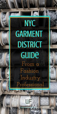 An insiders guide to the best stores, food, and drinks in NYCs famous garment district. Get your creativity on with this handy guide of where to shop now!   LOST NOT FOUND   NYC   Garment District   Fabric Stores NYC   Craft Stores NYC  NYC Fashion #GarmentDistrict #FabricStoresNYC #NYC