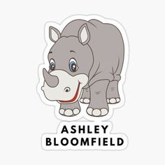 """Ashley Bloomfield Baby Rhino"" by teeumour 