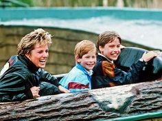 SOAKIN' WET   photo | Prince Harry, Prince William, Princess Diana