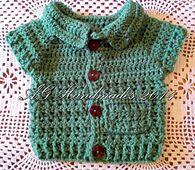 Ravelry: Cross Stitch Baby Cardigan pattern by ag handmades.. Free pattern!