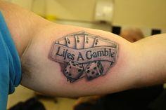 Image result for craps dice tattoo