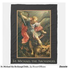 St. Michael the Archangel Defend Us In Battle Fleece Blanket Catholic Prayers, Catholic Art, Edge Stitch, Archangel, St Michael, Keep It Cleaner, Blankets, Battle, Spirituality