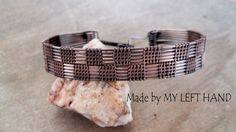 Mens bracelet, masculine wire wrapped copper bracelet. This piece of mens jewelry is completely made by hands, including the clasp. Cool Mens