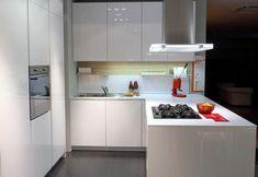 Una pequeña cocina.