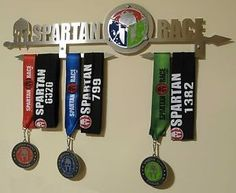 Spartan race trifecta medal display from 3 mm inox (without medals)r