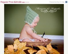 munchin hats | Sage Green White Flower Munchkin Pixie Elf Fairy Hobbit Knit Baby Hat ...
