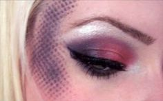 Dotted Blush  Black-Purple and Fushia  This look isn't practical for everyone, but it's fun for night's out, clubs, parties, avant garde makeup, etc. or a mermaid costume for Halloween.