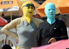 Face-kini, Face Mask Bathing Suit, Is Popular On Chinese Beach (PHOTO)