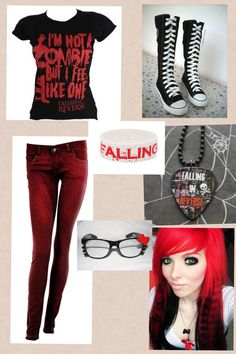 I made this Falling in reverse outfit <3 :))