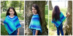 crochet poncho kids Free crochet pattern for poncho wrap in sizes doll to adult by Poncho Au Crochet, Crochet Baby Cardigan, Poncho Shawl, Crochet Poncho Patterns, Crochet Stitches, Crochet Cowls, Shawl Patterns, Cardigan Pattern, Crochet For Kids