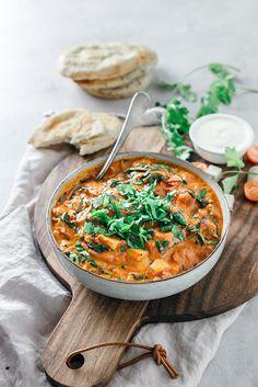 Vegan Dinner Recipes, Good Healthy Recipes, Vegan Dinners, Veggie Recipes, Vegetarian Recipes, Cooking Recipes, Halloumi, Veggie Bites, Veggie Dinner