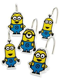 Despicable Me Minions 12 Piece Shower Curtain Hooks Universal http://www.amazon.com/dp/B00RY9MLY8/ref=cm_sw_r_pi_dp_OhJCvb1125K16