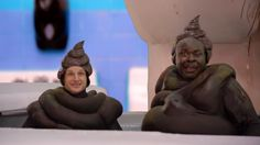 Two Men Dressed as Turds Emerge From Butt to Tell You About Dude Wipes | Adweek