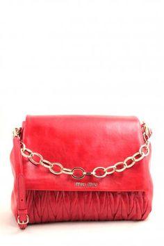 e20af59ff2c6 miu miu pattina bag red matellassè lux. Red leather shoulder bag