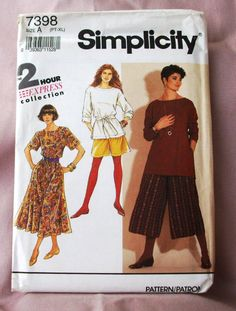 1991 Uncut  Simplicity Pattern 7398  Misses  by lovelylovepatterns, $4.50