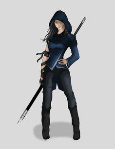 [Art] My Shadow Monk, Rika Wolfgard. : DnD
