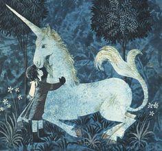 "Leonard Weisgard : Illustrations for ""Cynthia and the Unicorn"", 1967."
