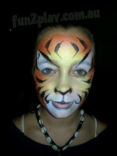 Tiger face paint under 7 mins face painting ideas for kids