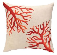 I am crazy about these new coral reef pillows!