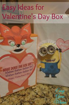 Easy Ideas for Valentine's Day Box from Easy Green Mama.