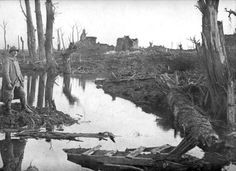 French soldier surveying a muddy battlefield. Due to long periods of heavy rain, battlefields would be turned to swampland in a matter of hours. This only made battle, living, and travel conditions far worse.