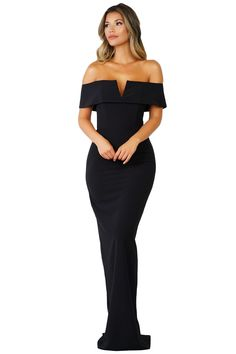 4e1b565ffc66 Black Social Event Red Carpet Off-shoulder Party Evening Dress Party Gowns,  Cheap Party