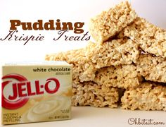 pudding krispie treats | Submit a Comment Cancel reply