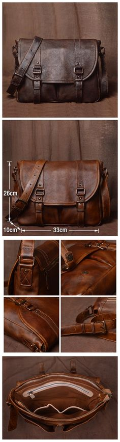 Classic Mens Leather Bag, Handmade Leather Briefcase, Business Bag 9042 - Men's style, accessories, mens fashion trends 2020 Leather Gifts, Leather Bags Handmade, Leather Men, Leather Briefcase, Leather Backpack, Carolina Herrera, Cute Purses, Purses And Bags, Fashion Bags