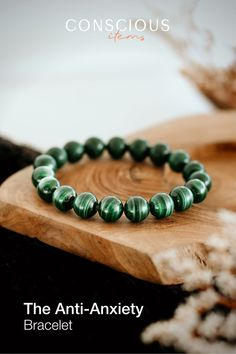 Even the strongest of us can go through bouts of anxiety. Green Malachite, the most popular anti-anxiety stone, soothes you during times of emotional stress. It's the ultimate crystal for a worry-free mind. Crystal jewelry, necklace, pendants, bracelets, energy healing, health and wellness, meditation, self improvement, rings, cleansing, crystal cleansing, crystal healing, chakras, energetic healing, energy healing, crystals, cleansing jewerly, beads, bracelets beads, crystals, energy, gemstones Crystal Healing, Chakra Healing, Natural Healing, Free Mind, Emotional Stress, Group Boards, Handmade Shop, Handmade Gifts, Crystal Jewelry