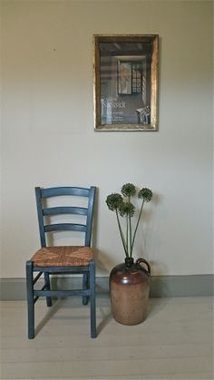 Two Rustic Rush Seated Beech Chairs | Distressed But Not Forsaken