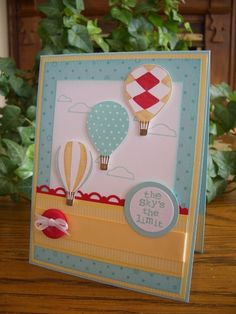 Perfect Weather for a Balloon Ride by stampin'nana - Cards and Paper Crafts at Splitcoaststampers