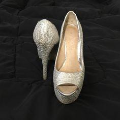 Aldo glitter heel peep toe pump 5 inches heel glitter peep toe platform pump, great for wedding or special occasion ALDO Shoes Heels