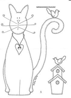 cat embroidery pattern...