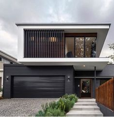 Modern architecture: what is it these days? (The Interiors Addict) - Modern architecture: what is it these days? House Cladding, Facade House, Wall Cladding, Modern House Facades, Modern House Design, Contemporary Design, Contemporary Benches, Duplex Design, Contemporary Cottage
