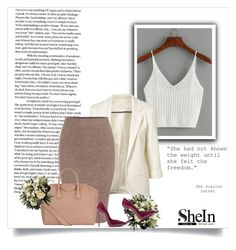 """Shein"" by sabine-rose ❤ liked on Polyvore featuring WithChic, Givenchy and Casadei"