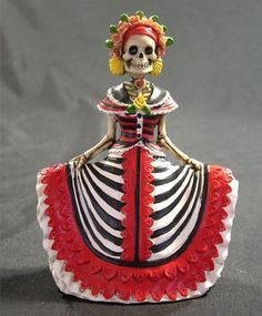 Red and black Catrina.  Day of the Day  =  Dia de los Muertos (New Mexico)