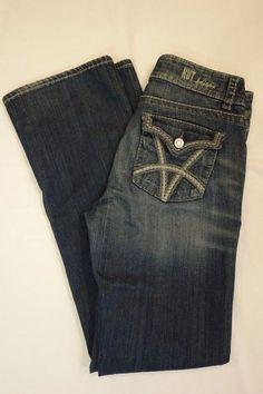 Kut from the Kloth Natalie High Rise Boot dark denim jeans SZ 4 W28 L34 #KUTfromtheKloth #BootCut
