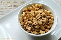 A sweet peanut butter puff granola without the peanut butter! Gluten-free, vegan, and sugar-free, this healthy granola recipe is full of peanut protein to fuel your morning or give your afternoon s...