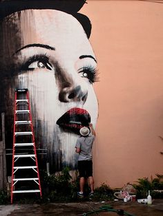street art By Rone in Miami_ Florida_USA