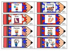 Patriotic Plurals - Practice irregular plurals with this memory matching card game! Autism Activities, Speech Therapy Activities, Classroom Activities, Irregular Plural Nouns, Nouns And Pronouns, Receptive Language, Reading Street, Grammar Lessons, Matching Cards
