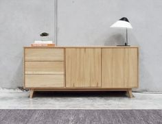 Copenhagen Solid European Oak 165cm Sideboard Buffet by Bent Design image