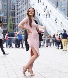 Nadezhda touring around Rotterdam in her cut out pink dress! Stunning! XOXO