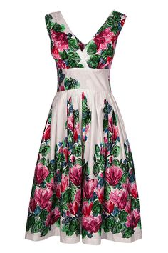 Admire The Bountiful Bright Blooms On This Stunning Dress